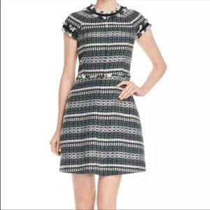 Tory Burch Norfolk Short-Sleeve A-Line Dress